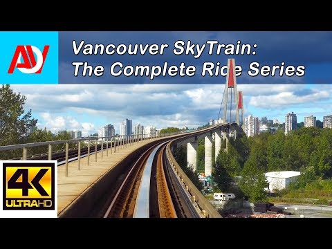 Vancouver Skytrain: Expo Line Westbound Pt.1, King George to Metrotown - The Complete Ride 4K