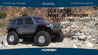 Load Video 1:  Axial 1/10 SCX10 III Jeep JLU Wrangler w/Portals Kit
