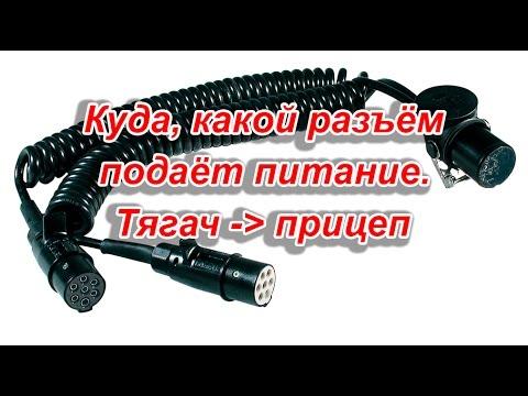 Спиральный кабель подключения прицепа / полуприцепа.От тягаче к прицепу. Куда,какой провод,разъём