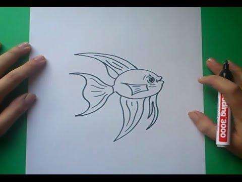Como dibujar un pez paso a paso 6  How to draw a fish 6  YouTube