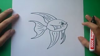 Como dibujar un pez paso a paso 6 | How to draw a fish 6