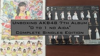 [ UNBOXING ] AKB48 7th ALBUM 0と1の間 (0 to 1 no Aida) Complete Singles Edition
