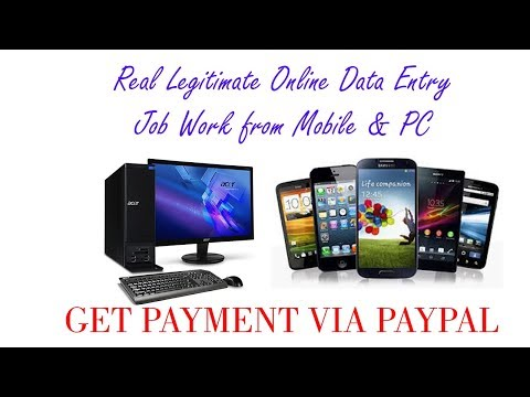 Real Legitimate Online Data Entry Job Work from Mobile & PC