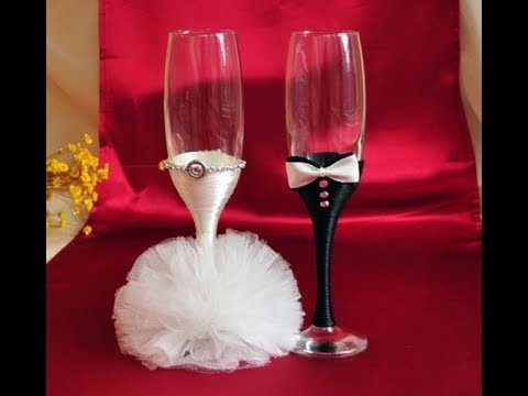 Wedding Glasses Decoration Ideas How To Decorate Wedding Glasses