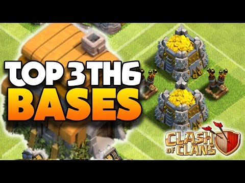Clash Of Clans - TOP 3 TH6 FARMING BASE W/2 Air Defenses! - CoC BEST TOWN HALL 6 DEFENSE 2016!