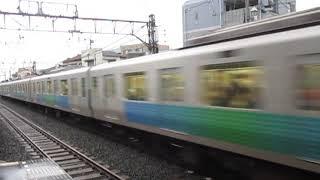 西武30000系8両編成秋津駅高速通過