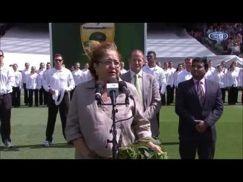 Boxing Day 2014 Cricket Test Match at MCG   National Anthem Performers Amitabh Singh And Cameron Mac