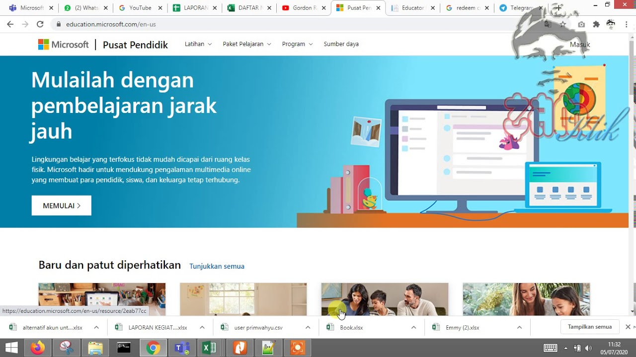 Memasukkan Redeem code Microsoft educational - YouTube