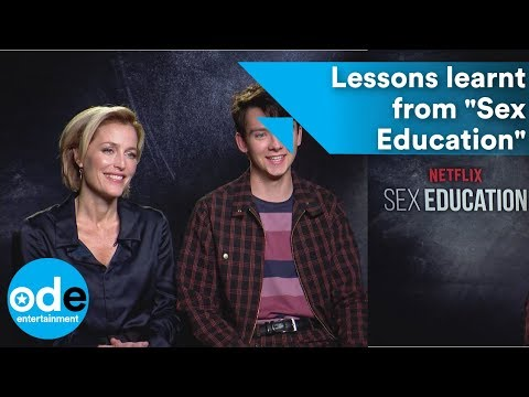 What Asa Butterfield & Gillian Anderson learnt from Sex Education