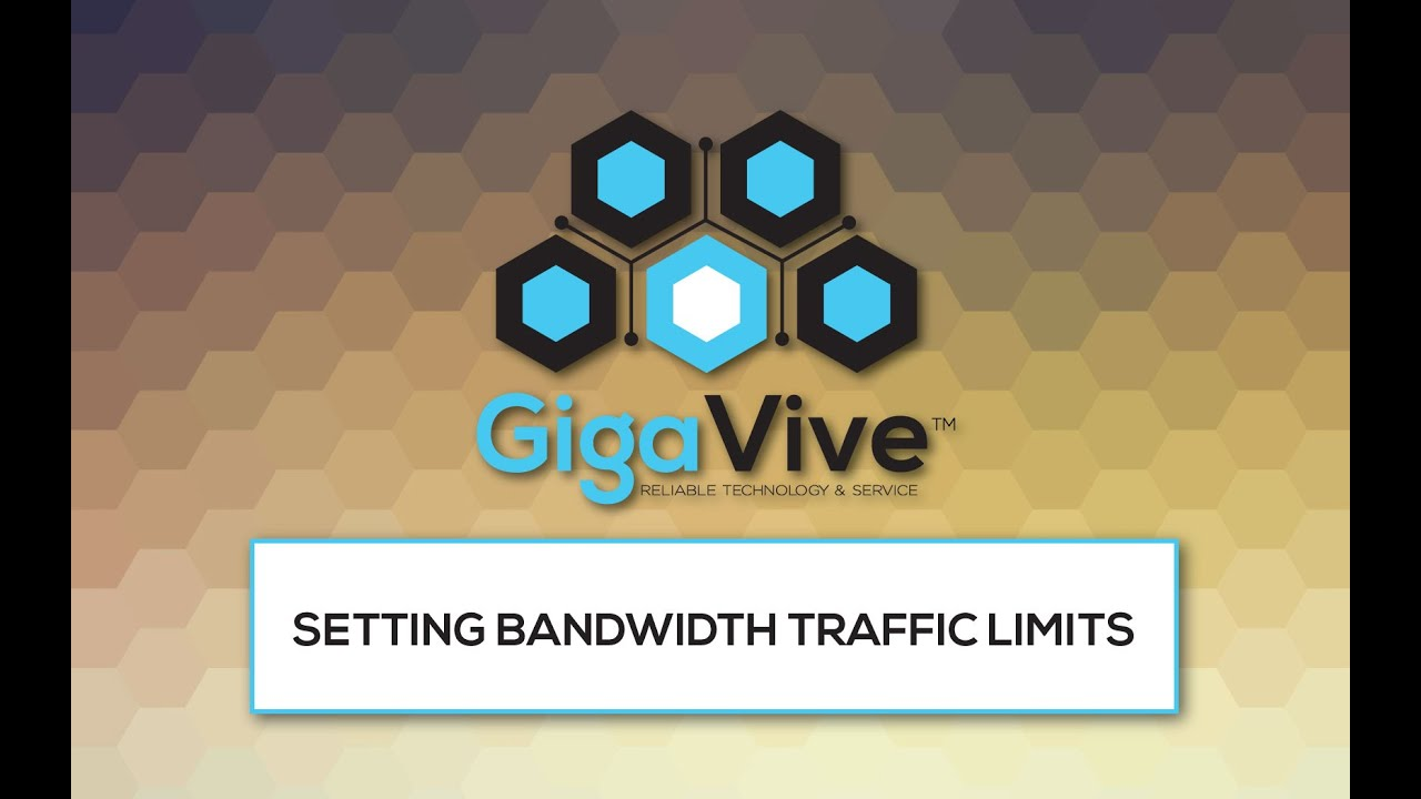 How to Set Bandwidth Traffic Limits on Your Controller