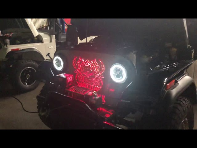 Roxor headlight and turn testing