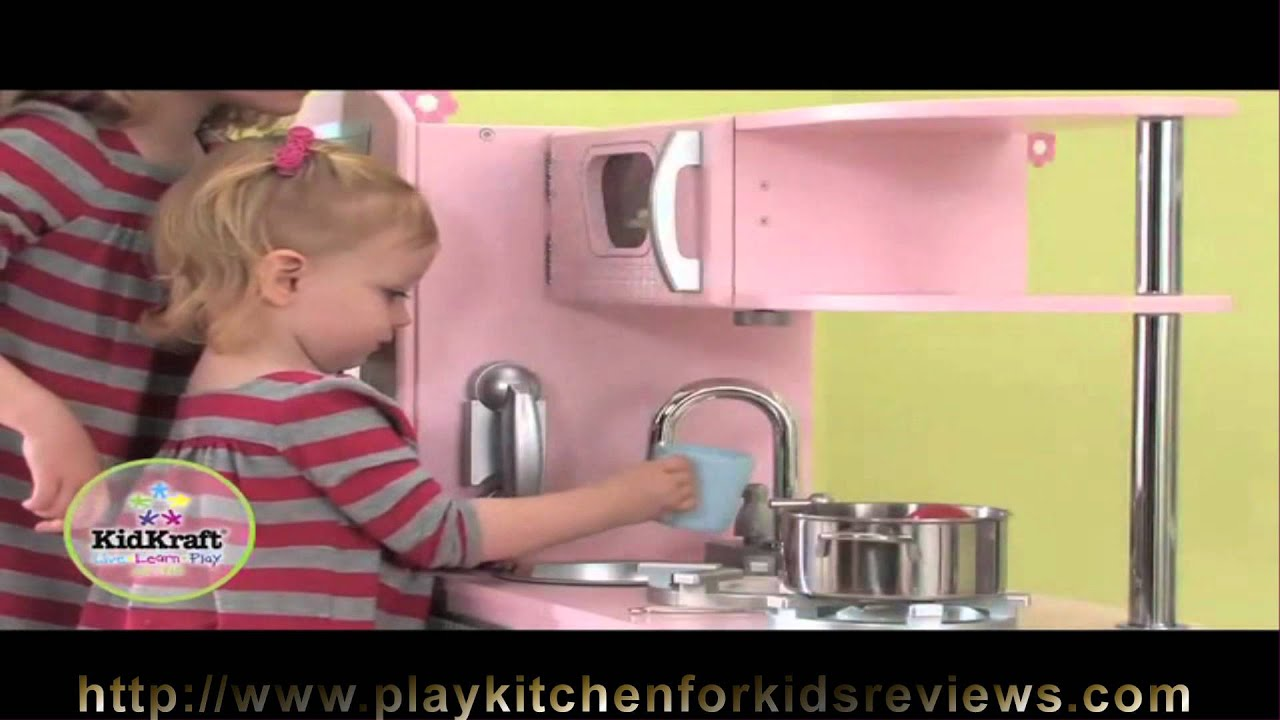 Pink Play Kitchen Set kidkraft pink vintage kitchen 53179 review how to play kitchen for
