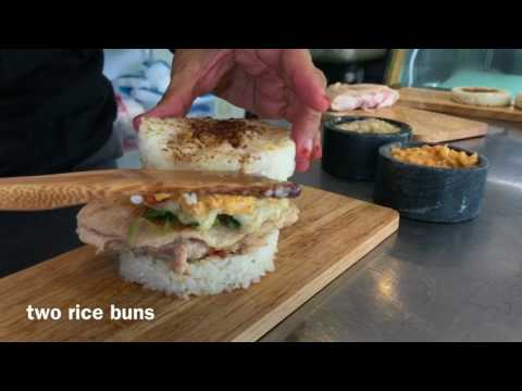 Chicken rice burger hits S'pore shores
