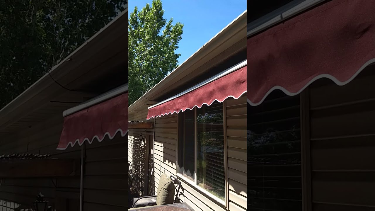 Roll out deck awning - YouTube