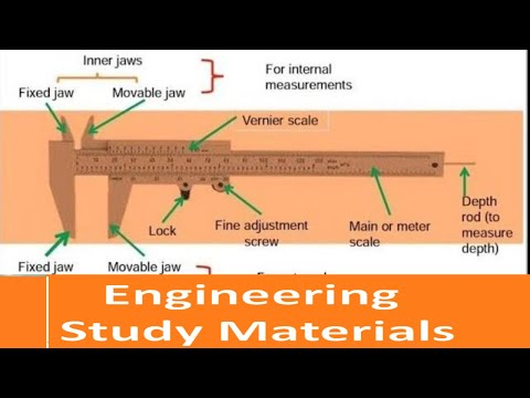 Vernier Caliper | Types Of Vernier Caliper | How To Read | ENGINEERING STUDY MATERIALS