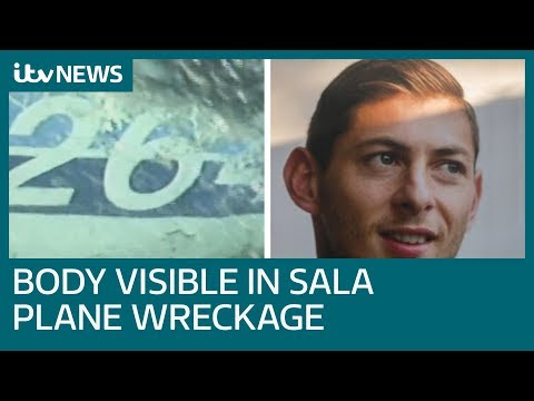 Body visible in wreckage of plane carrying missing footballer Emiliano Sala | ITV News
