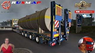 Euro Truck Simulator 2 (1.37)   Ownable overweight trailer Kassbohrer LB4E v1.1.3 by Jazzycat Road to Belarus RusMap 2.1 [1.37.x] by Aldimator FMOD ON and Open Windows Naturalux Graphics and Weather Spring Graphics/Weather v3.5 (1.37) by Grimes + DLC's &