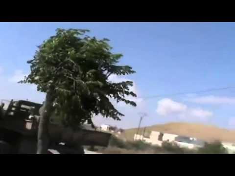 Syria civil war anti government army attack anti aircraft machine gun