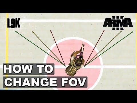 Как изменить угол обзора в arma 3