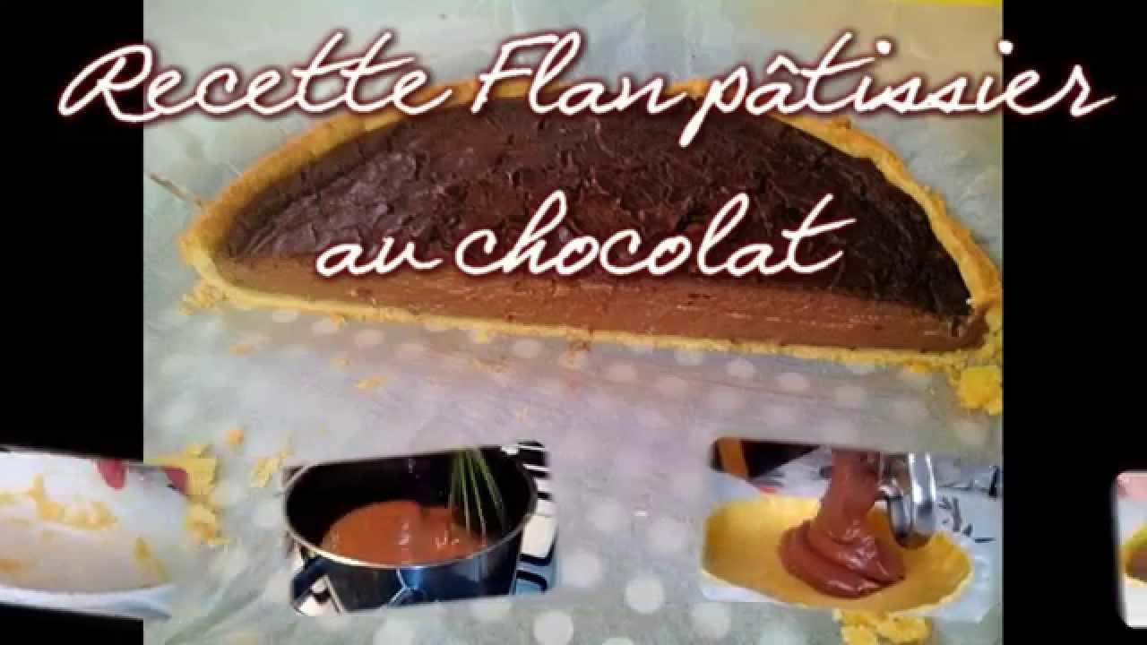 recette facile flan patissier au chocolat pate bris e youtube. Black Bedroom Furniture Sets. Home Design Ideas