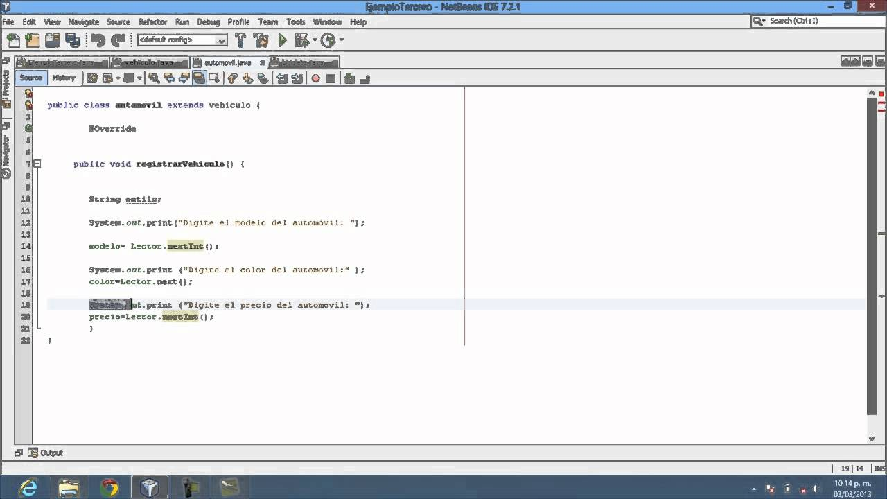 ABSTRACCION Y HERENCIA EN JAVA