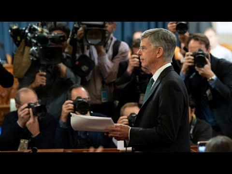 """Enquête pour """"impeachment"""" : début du grand bal des témoins clefs"""
