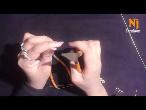 Online College Classes | How To Make Bracelet Wire Wrapping Lesson1|| NJ Creation