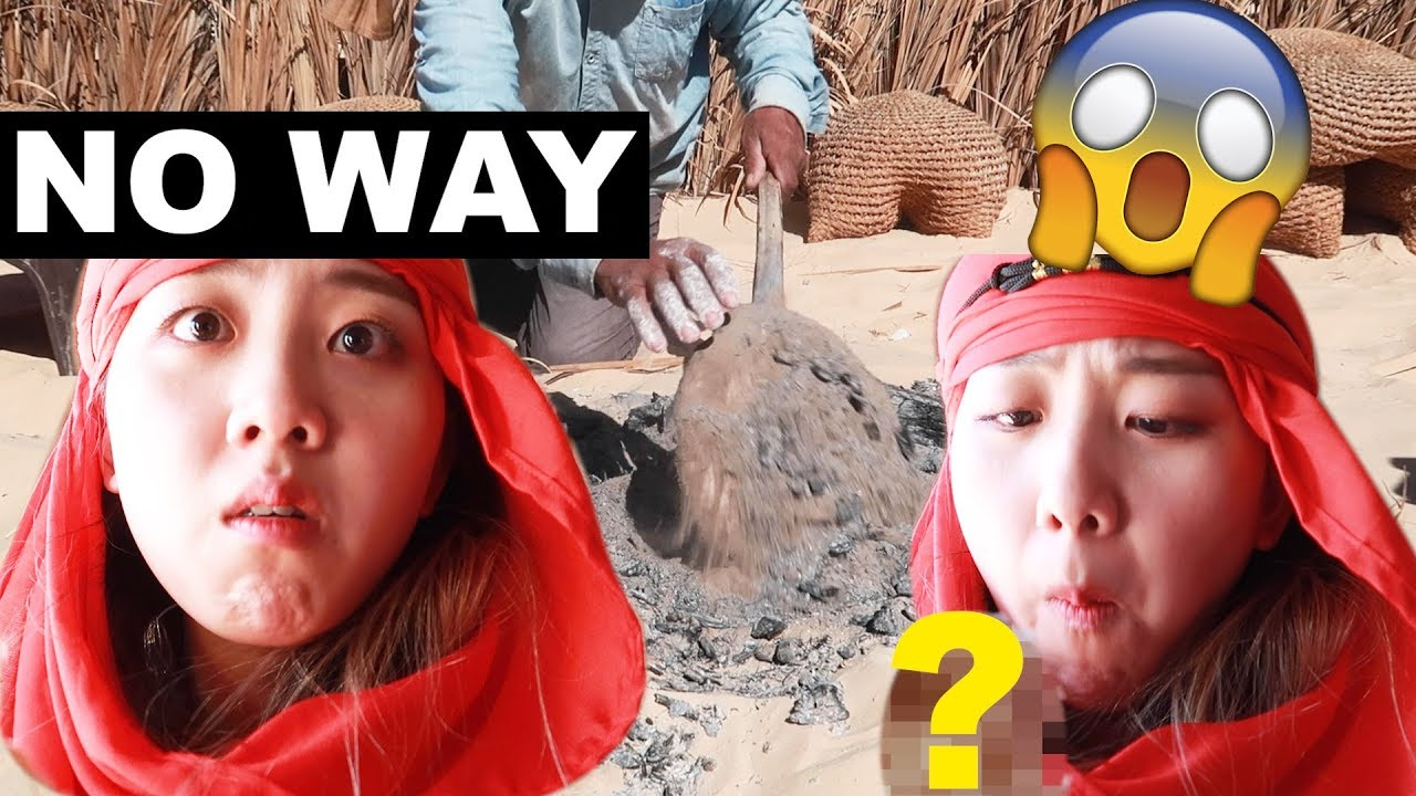 Korean Tries The Weirdest Tunisian Food (الطعام التونسي) in Sahara????????