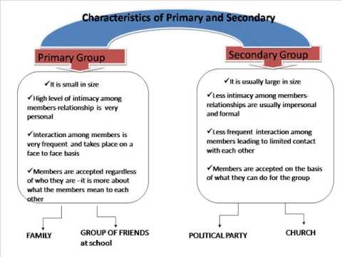 sociology assignment primary and secondary groups Part aa primary group is basically those who really get to see who you are and what you are about with a primary group the people involved get to see many sides of.