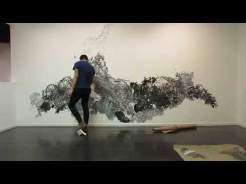 Timelapse of Paper Cut Installation