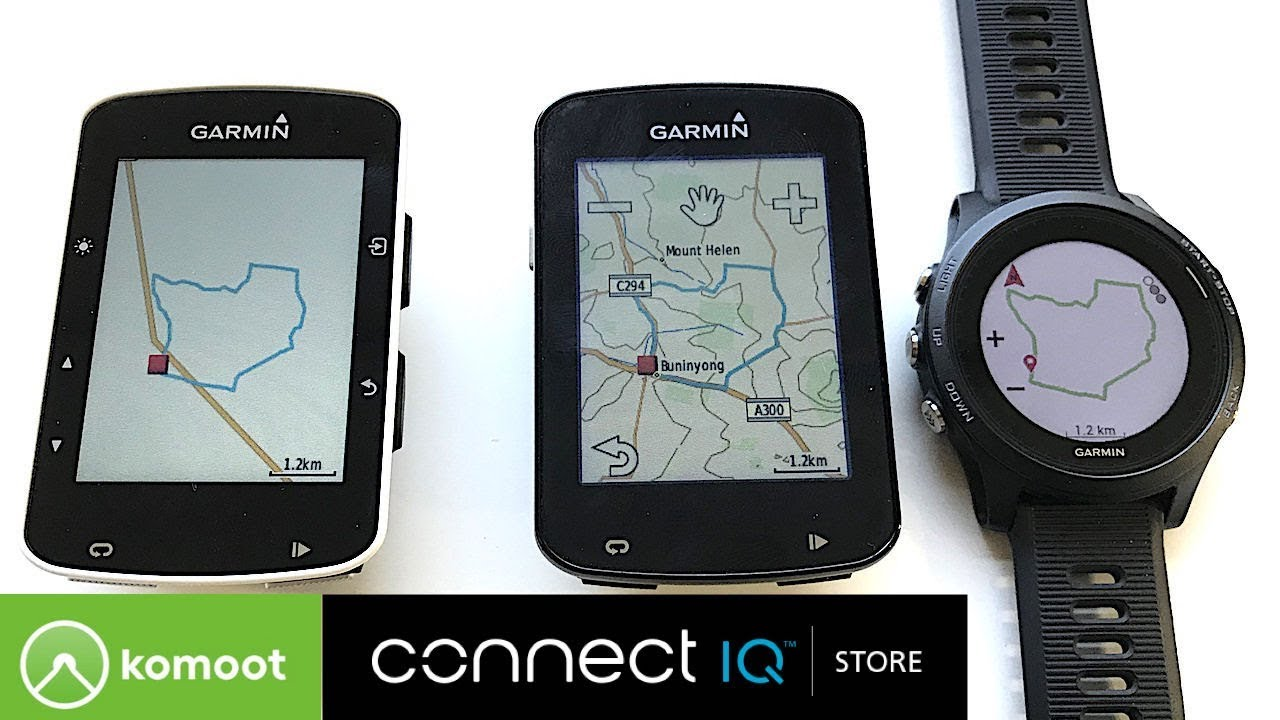 Komoot Connect IQ App: Route Sync to Garmin GPS Units