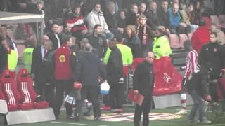 PSV - FC Twente 2-6  onrust op de tribunes (compilatie)