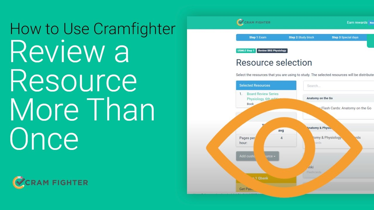 How to Review a Resource More Than Once With Cram Fighter - YouTube