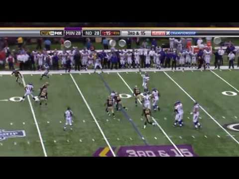 Brett Favre Interception vs Saints(2009 NFC Championship)