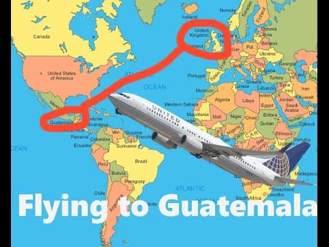 Flying to Guatemala