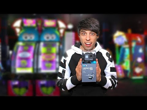 I WON a GoPro at the Arcade!