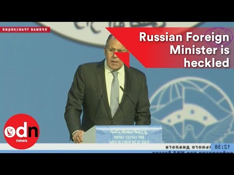 Awkward! Russian Foreign Minister is heckled