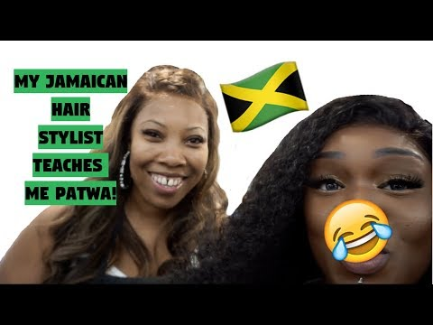 MY JAMAICAN HAIR STYLIST TEACHES ME PATWA | FT BEAUTY FOREVER  HAIR ALIEXPRESS