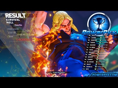 Street Fighter V - Survival Extreme / Hell Difficulty (Back From Hell Trophy Guide) - EASY METHOD!