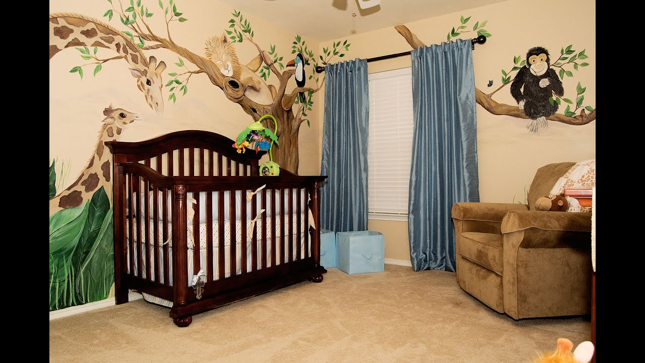Delightful newborn baby room decorating ideas youtube for Baby room mural ideas
