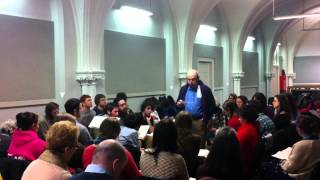 Tollie Lee singing at the Shenandoah Harmony singing school, UCC, Cork, Ireland, March 4th 2013