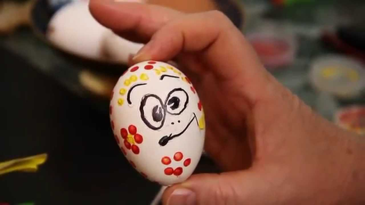 Оригинальные елочные игрушки своими руками из яйца - YouTube