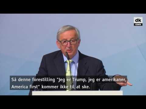 Juncker driller Trump: Du forstår ikke klimaaftalen, og du kan ikke bare komme ud af den