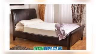 Rothbury Leather Sleigh Bed By Kaydian