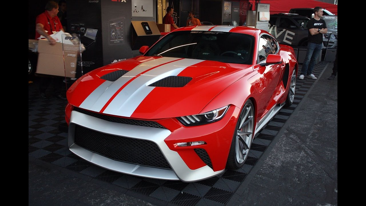 ford mustang gttzero to 60 designs - 2016 sema show - youtube