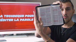 VOICI MA TECHNIQUE POUR MEDITER ET COMPRENDRE LA BIBLE