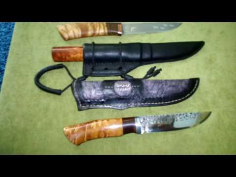 Рукоять ножа из сувеля березы