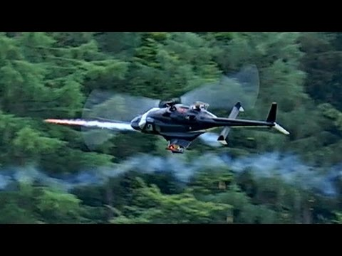 GIGANTIC RC AIRWOLF IN FIGHT WITH ROCKETS BELL-222 SCALE MODEL ELECTRIC FIGHT HELICOPTER FLIGHT SHOW