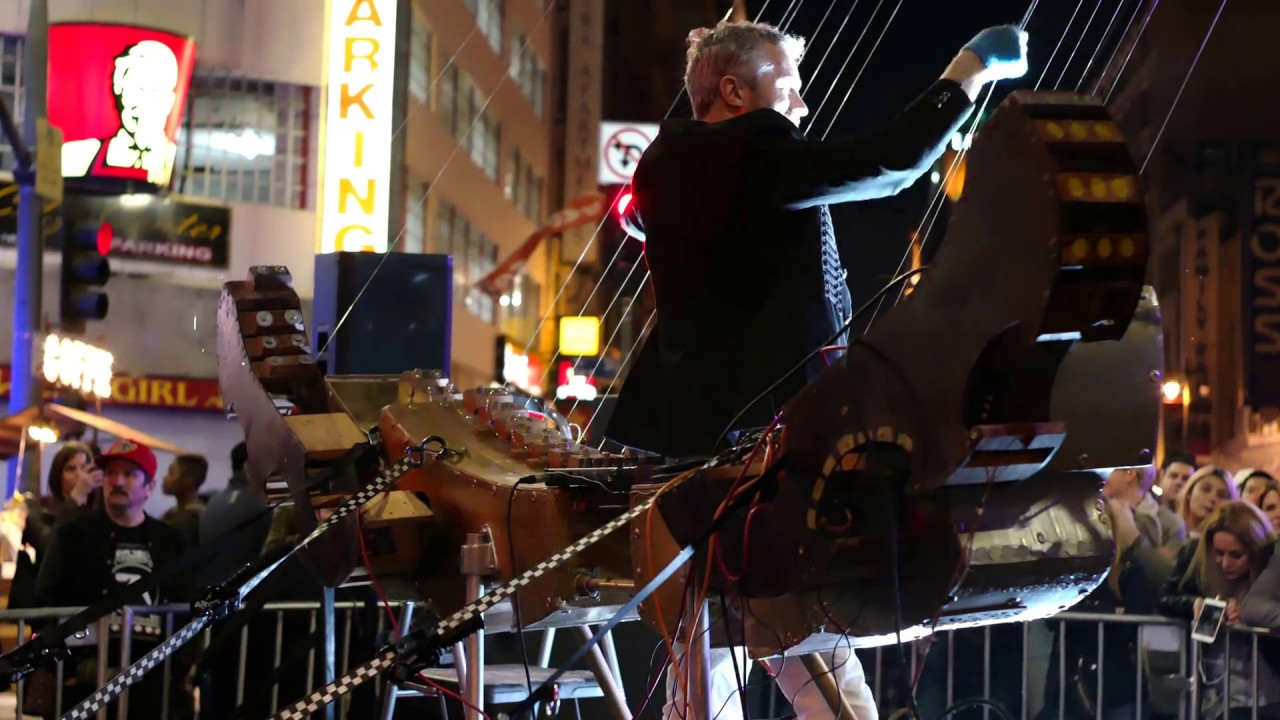 world largest musical instrument the earth harp downtown los angeles