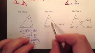 Geometry Notes 4-1 Classify Triangles, Angle Measure Part 2